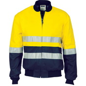 DNC 3758- HiVis cotton Drill Bomber Jacket with 3M R/T