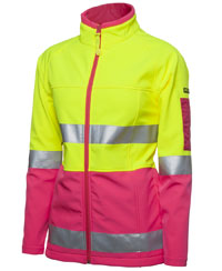 JBswear 6D4J1-Ladies HI VIS (D+N) SOFTSHELL JACKET