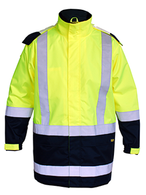 Bisley  BJ6966T- 2 tone Hivi rain shell jacket with R/T