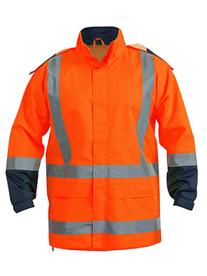 Bisley   BJ6967T- Hivi rain shell jacket with R/T