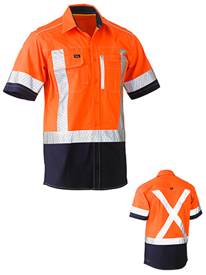 Bisley BS1177XT-Flex & Move Stretch hivi drill Utility shirt S/