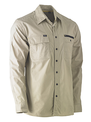 Bisley BS6144-Flexi Move Utility Drill Shirt - Long Sleeve
