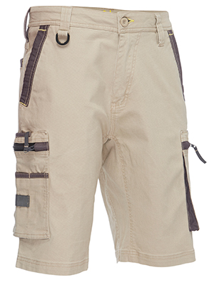 Bisley BSHC1330- Flex & Move utility zip cargo shorts