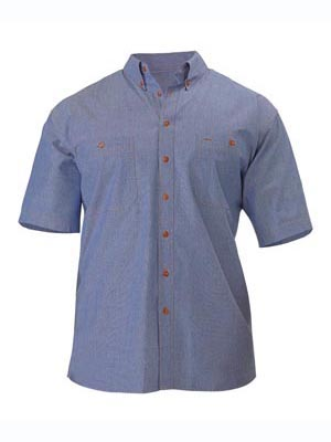 Bisley B71407-Chambray Shirt - Short Sleeve