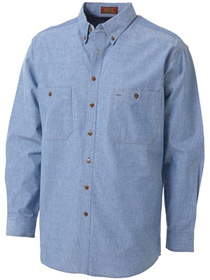 Bisley B76407-Chambray Shirt - Long Sleeve