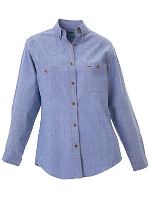 Bisley B76407L-Ladies - Chambray Shirt - Long Sleeve Button down
