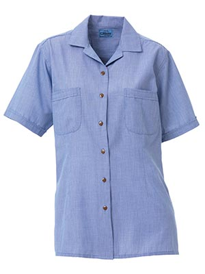 Bisley BL1410-Ladies - Structure Weave Shirt - Short Sleeve Reve