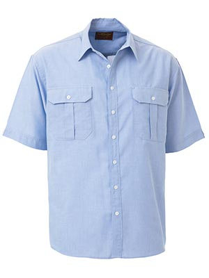 Bisley BS1030-Oxford Shirt - Short Sleeve Regular collar 2 pleat