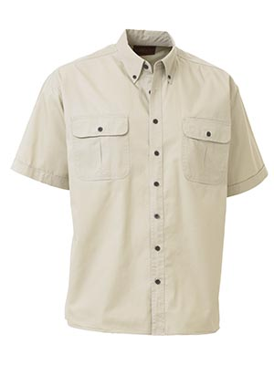 Bisley BS1255-Mini Twill Shirt - Short Sleeve Button down collar