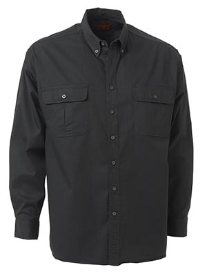 Bisley BS6255-Mini Twill Shirt - Long Sleeve Button down collar