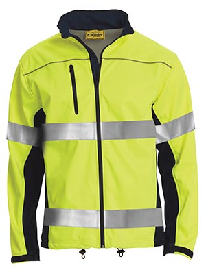 Bisley BJ6059T-Soft Shell Jacket with 3M Reflective Tape