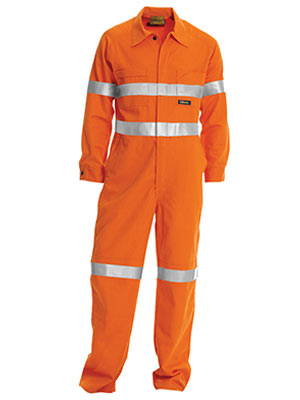 Bisley BC607T8-Hi Vis Coveralls 3M Reflective Tape