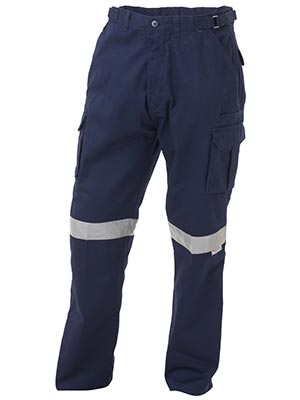 Bisley BPC6007T-8 Pocket Cargo Pant 3M Reflective Tape