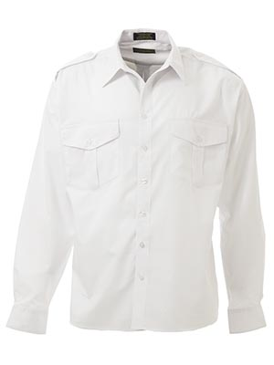 Bisley B76526-Epaulette Shirt - Long Sleeve