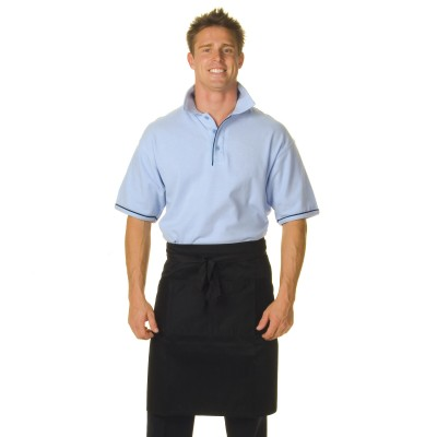 DNC 2211-200gsm Polyester Cotton Half (1/2) Apron—With Pocket