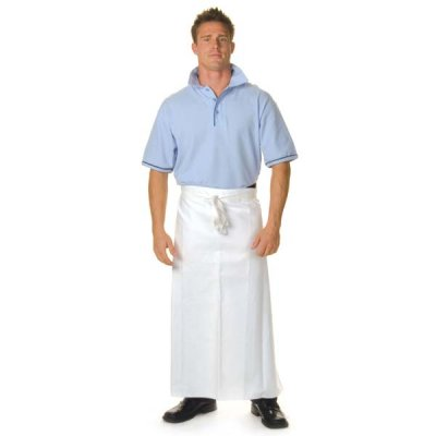 DNC 2411-200gsm Polyester Cotton Continental Apron— With Pocket