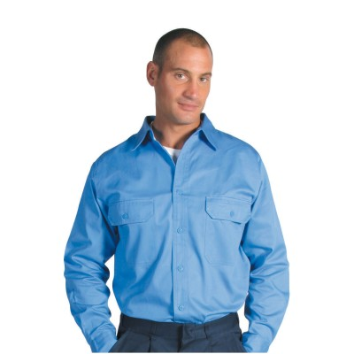 DNC 3209-190gsm Cotton Drill Work Shirt with Gusset Sleeve - L/S
