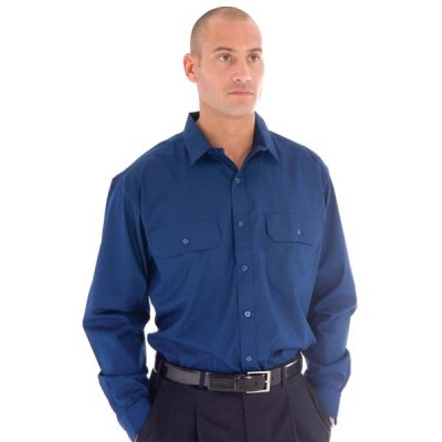 DNC 3212-110gsm Polyester Cotton Work Shirt - L/S