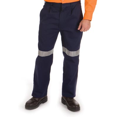 DNC 3314-311gsm Cotton Drill Trousers with 3M Reflective Tape