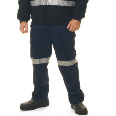DNC 3319-311gsm Cotton Drill Cargo Trousers with 3M R/Tape