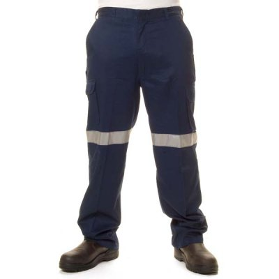 DNC 3326-190gsm Lightweight Cotton Cargo Pants with 3M R/Tape