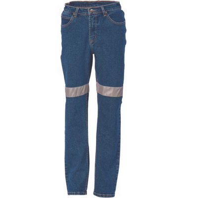 DNC 3339-13.75OZ Ladies Taped Denim Stretch Jeans, 3M8906 R/Tape