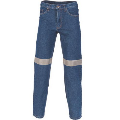 DNC 3347-13.75OZ Taped Stretch Jeans, 3M8906 R/Tape