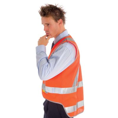 DNC 3802-Day/Night Cross Back Safety Vests with Tail, 3M R/Tape