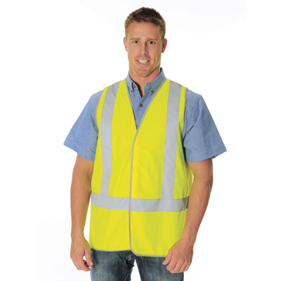 DNC 3804-Day & Night Safety Vest with H Pattern Generic R/Tape