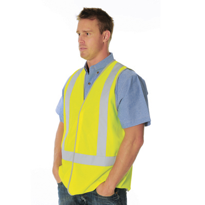 DNC 3805-Day & Night Safety Vest with Cross Back Generic R/Tape