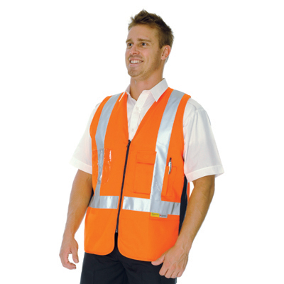 DNC 3810-190gsm Day/Night Cross Back Cotton Safety Vest, 3M R/Ta