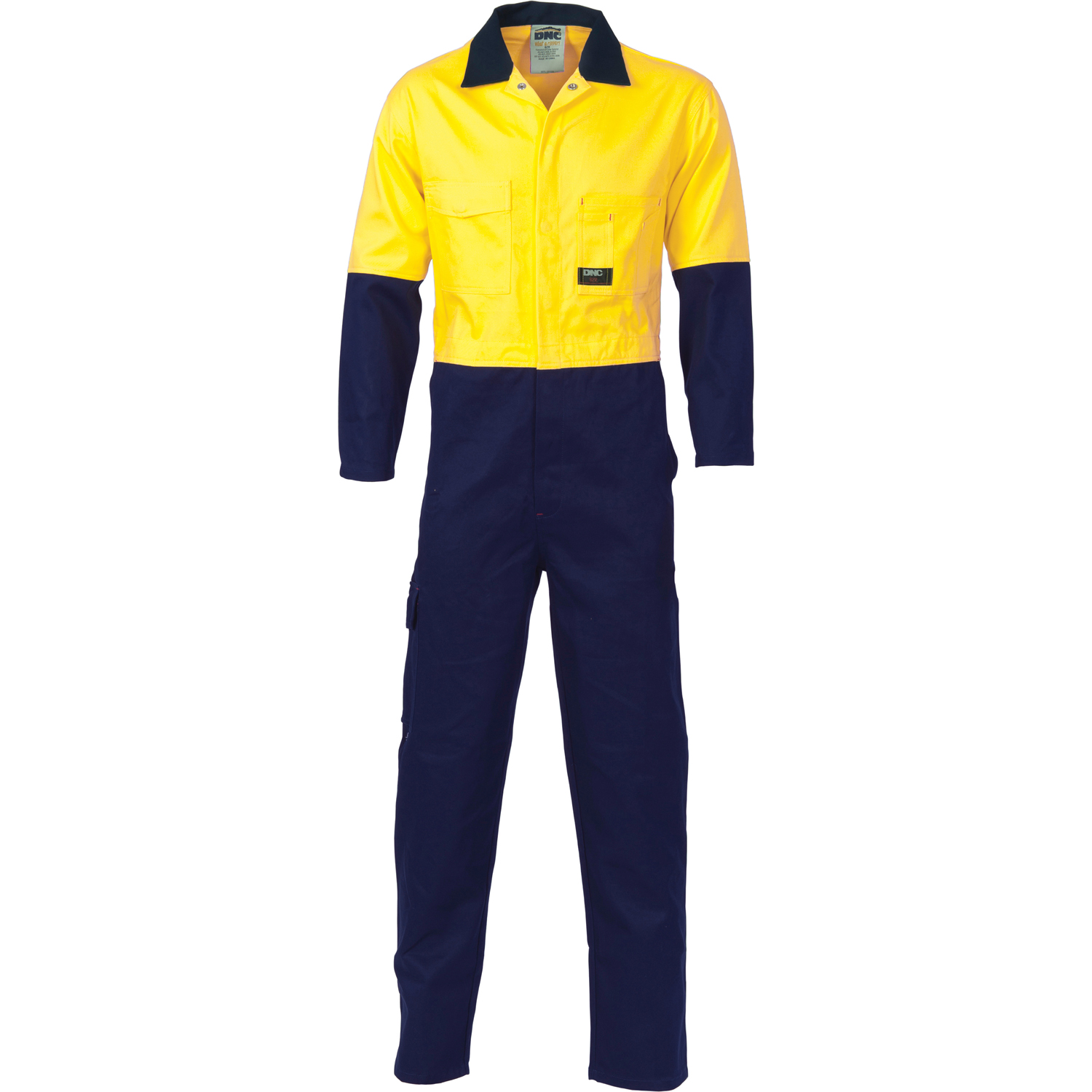 DNC 3851-311gsm HiVis Two Tone Cotton Drill Coverall 77-132S