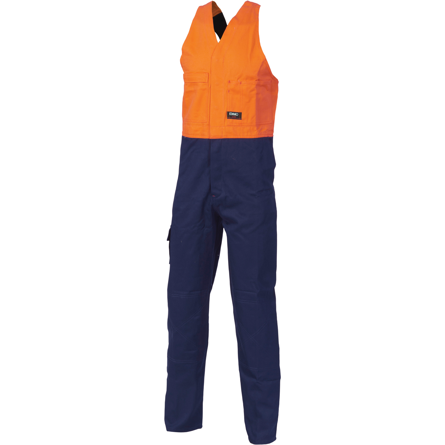 DNC 3853-311gsm HiVis Two Tone Cotton Action Back Overall
