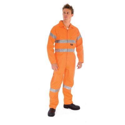 DNC 3854-311gsm HiVis Cotton Coverall with 3M R/Tape