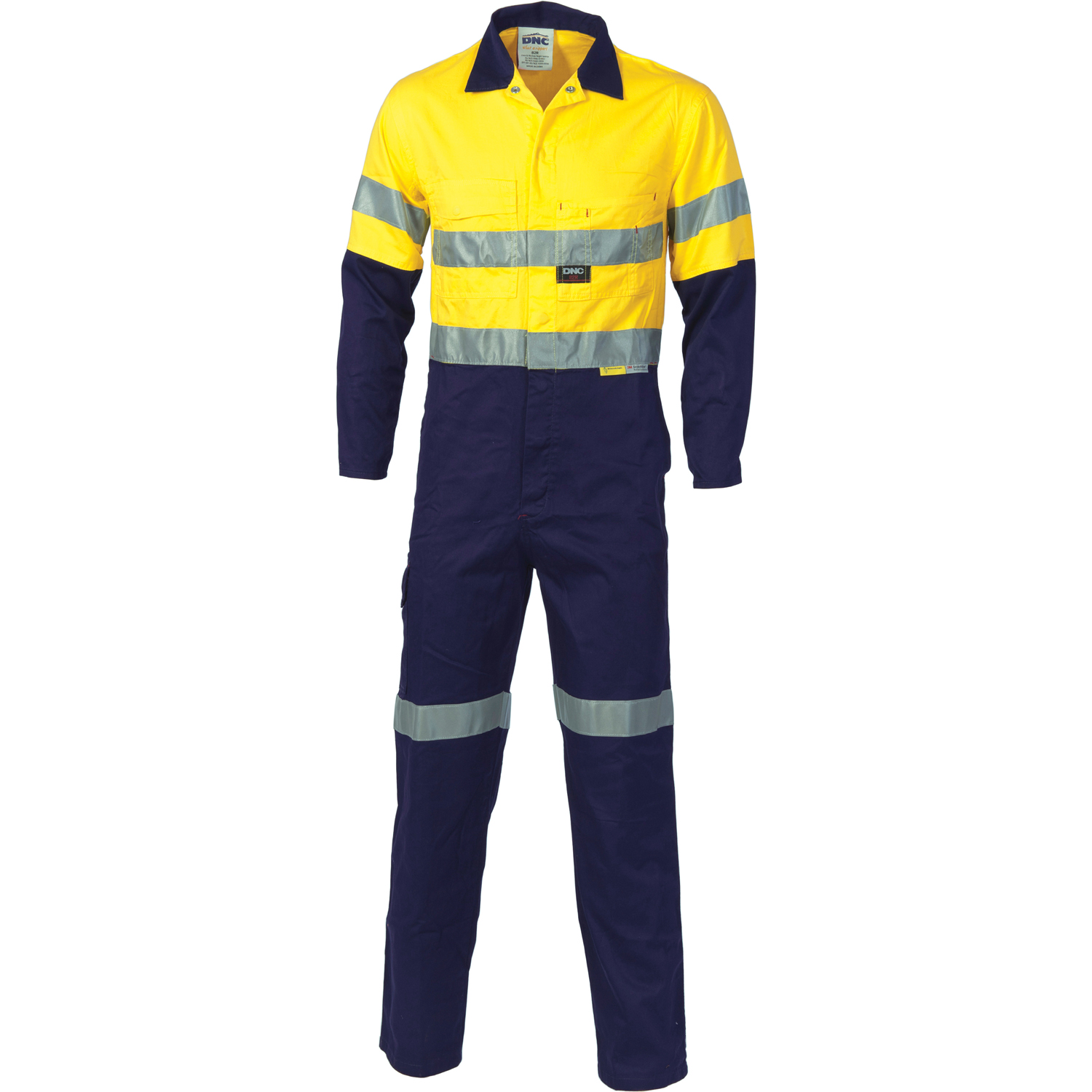 DNC 3855-311gsm HiVis Two Tone Cotton Coverall with 3M R/Tape