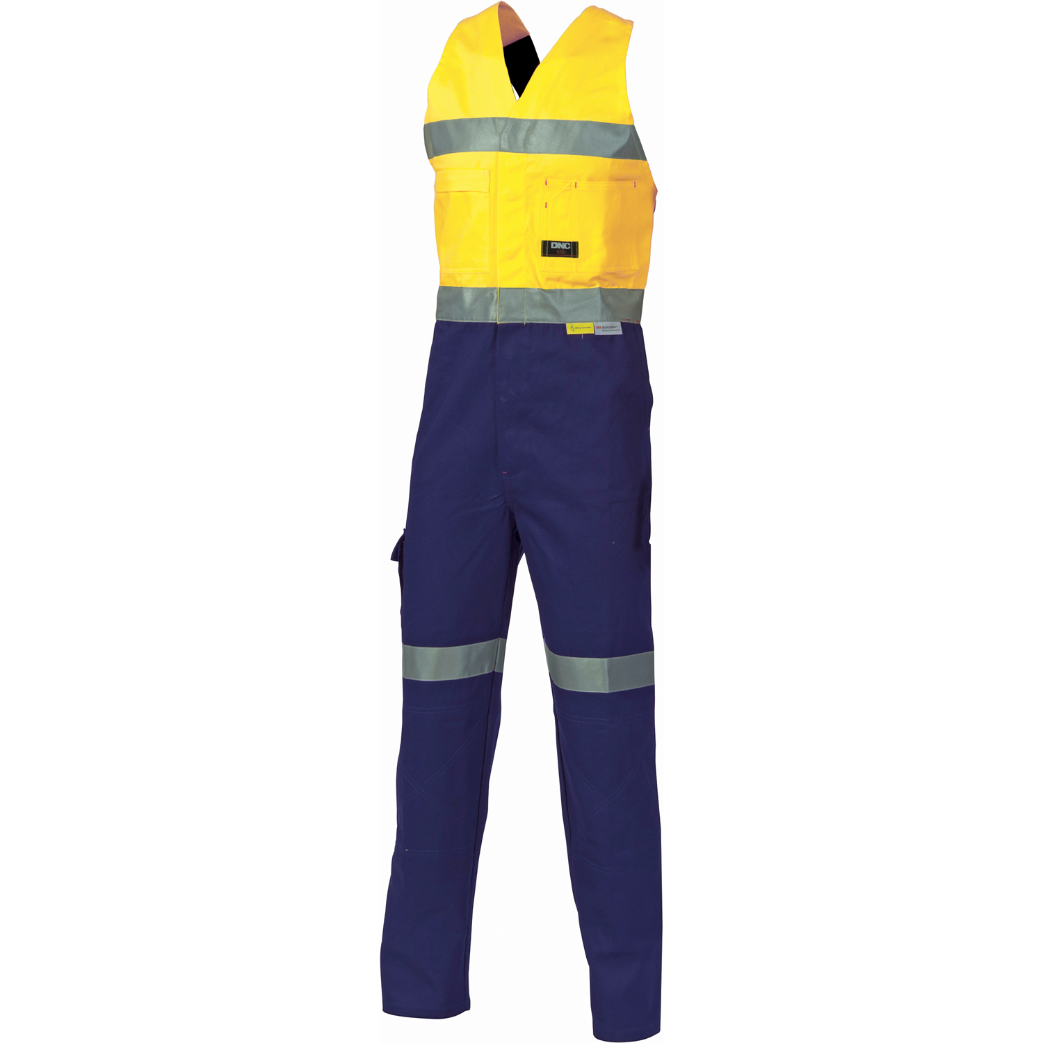 DNC 3857-311gsm HiVis Cotton Action Back Overall with 3M R/tape