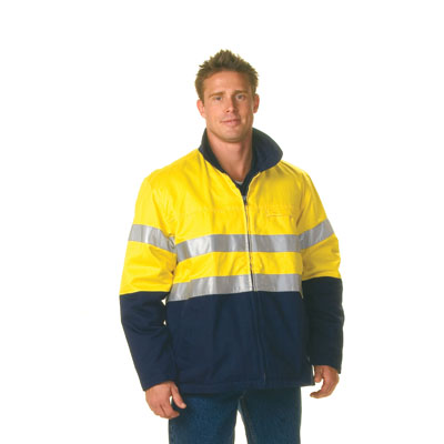 DNC 3858-311gsm HiVis Two Tone Protector Drill Jacket with 3M R/