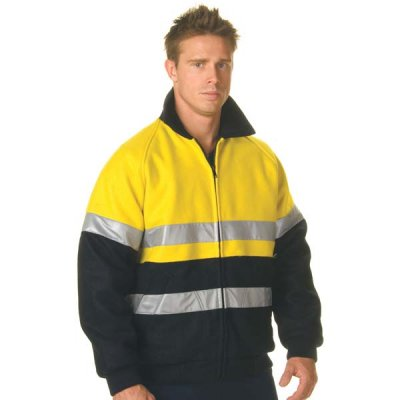 DNC 3859-Flying style HiVis Two Tone Bluey Jacket 3M R/Ta