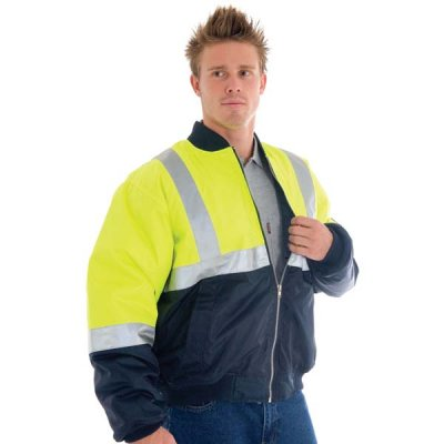 DNC 3862-300D Polyester/PU HiVis Two Tone Flying Jacket with 3M
