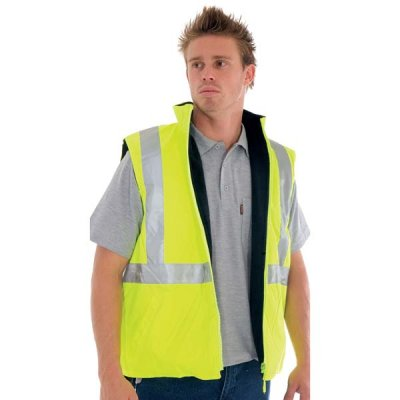 DNC 3865-300D Polyester/PU HiVis Reversible Safety Vest With 3M