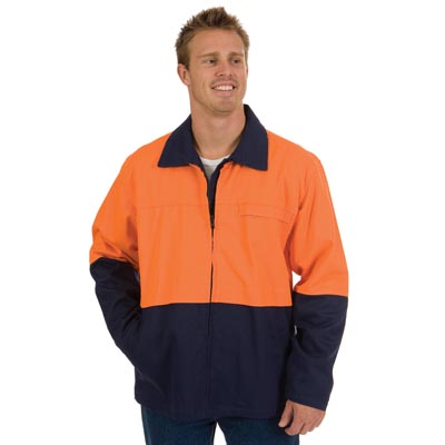 DNC 3868-311gsm HiVis Two Tone Protector Drill Jacket