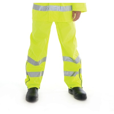 DNC 3872-300D Polyester/PU HiVis Breathable Rain Trousers with 3