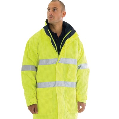 DNC 3875-300D Polyester/PU HiVis Breathable & Anti-Static Jacket