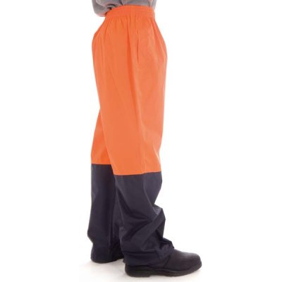 DNC 3878-190D Polyester/PU HiVis Two Tone Light Weight Rain Pant