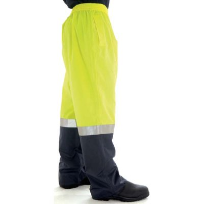 DNC 3880-190D Polyester/PU HiVis Two Tone Light Weight Rain Pant