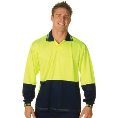 DNC 3904-175gsm Polyester HiVis Food Industry Polo, L/S