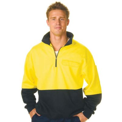 DNC 3923-300gsm HiVis Two Tone 1/2 Zip Cotton Fleecy Wincheater