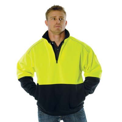 DNC 3928-300gsm Polyester Cotton HiVis Two Tone 1/2 Zip Reflecti