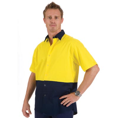 DNC 3941-190gsm HiVis Food Industry Cool-Breeze Cotton Shirt, S/