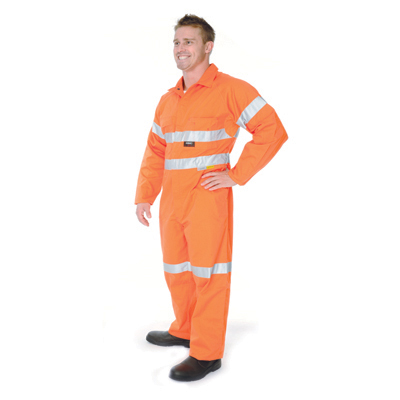 DNC 3956-190gsm HiVis Cool-Breeze Cotton Coverall with Cross Bac